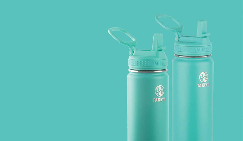 2 Takeya bottles side by side