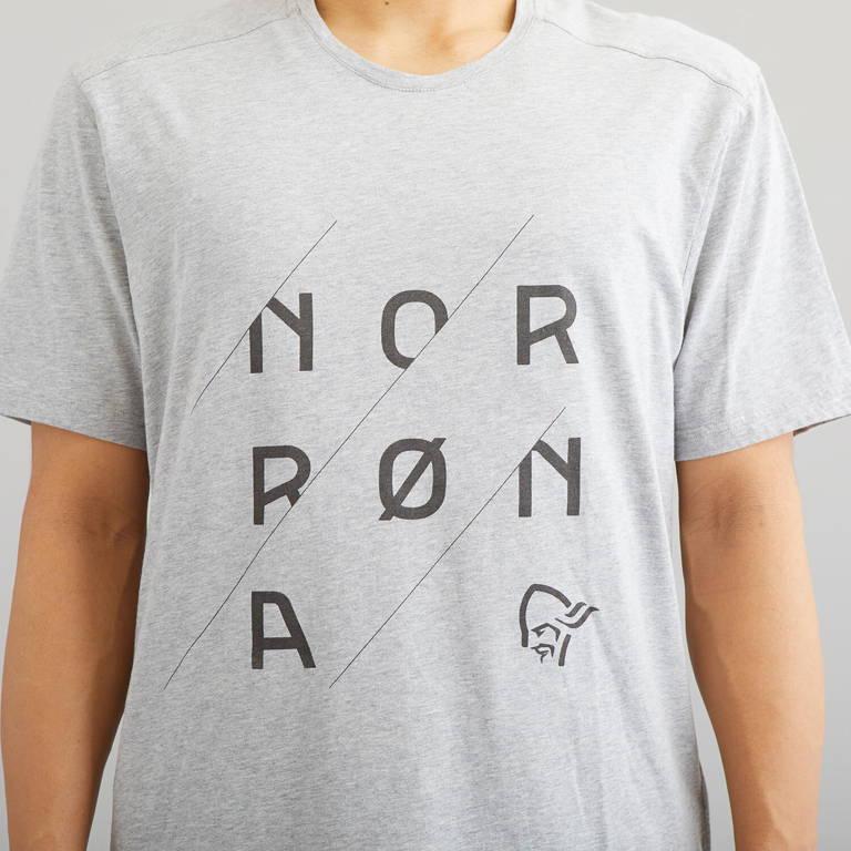 NORRONA(ノローナ)/29コットン スラントロゴTシャツ/グレー/MENS