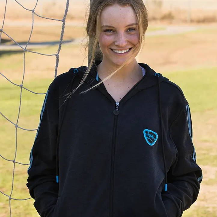 Model wearing a Rocket League Futsol Hoodie