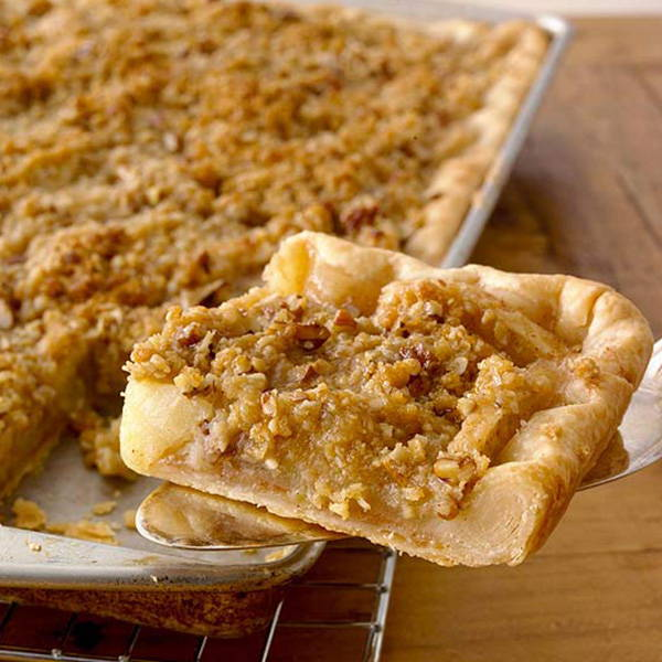 High Quality Organics Express apple pie slab with crumble top
