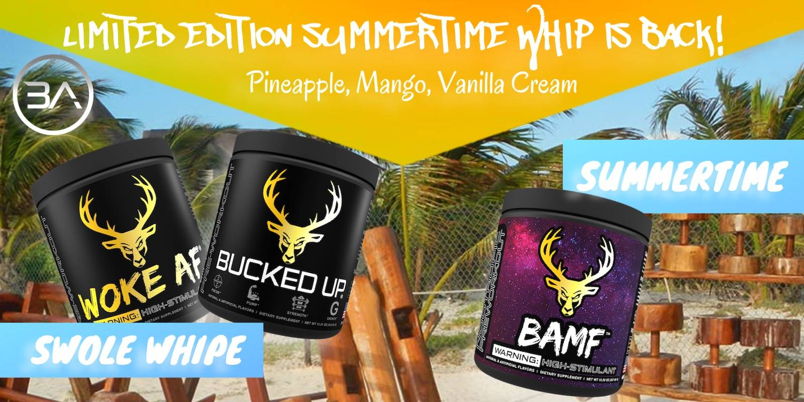 bucked up swole whip limited edition pre workout