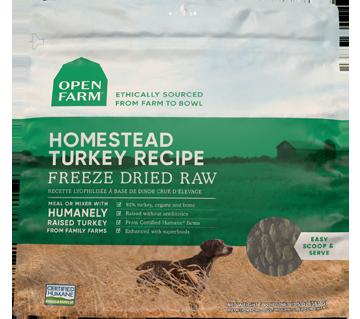 Homestead Turkey Freeze Dried Raw Dog Food