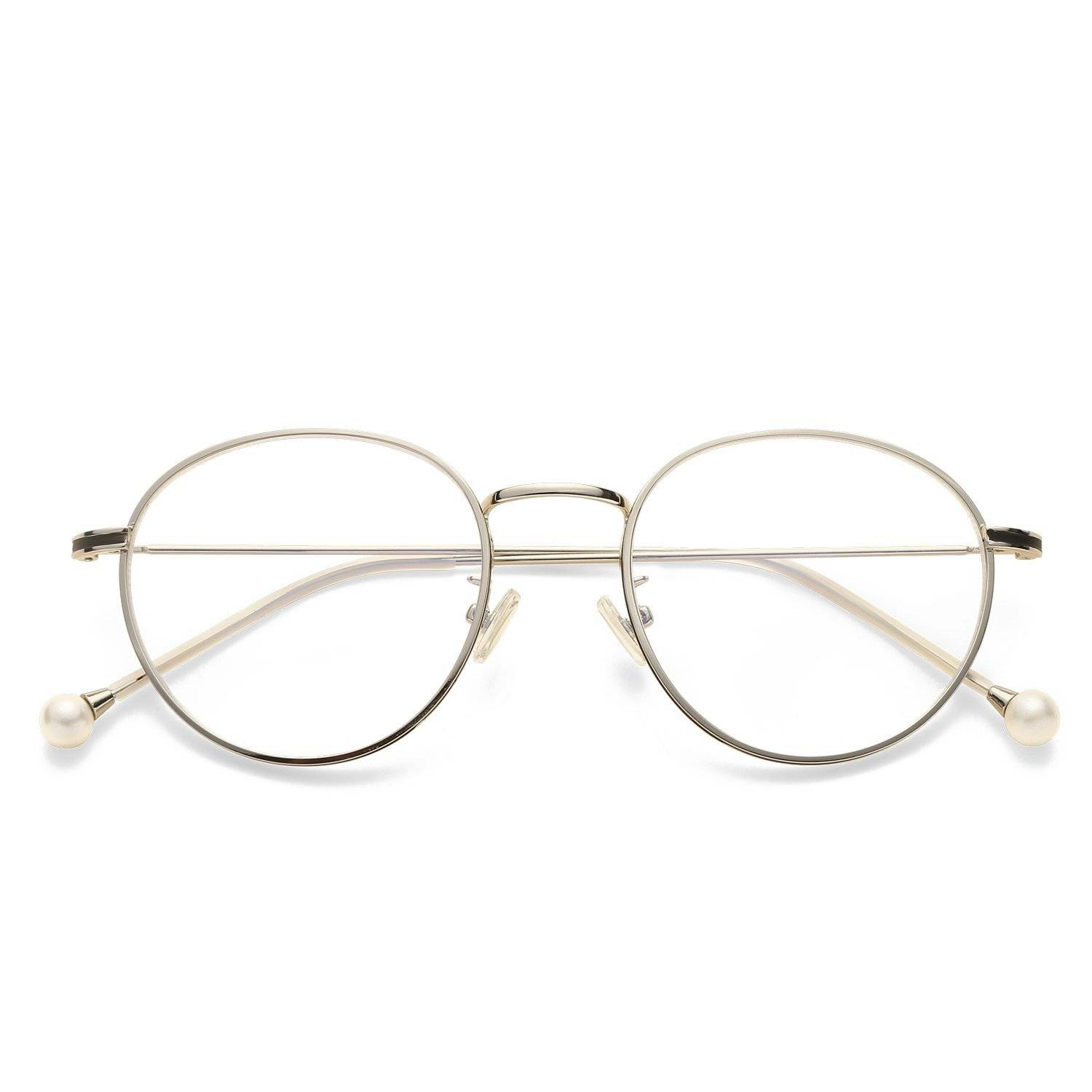 Nereide Oval Black Silver Blue Light Blocking Glasses. SHOP NOW