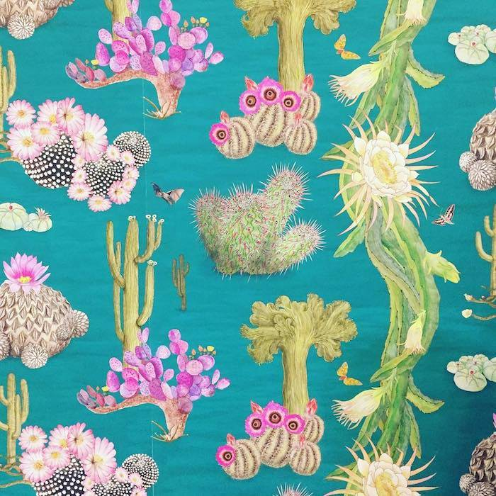 Newton Paisley Cactus Mexicanos wallpaper