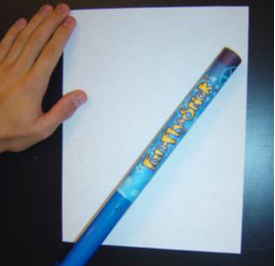 Apply an invisible layer of glue to a piece of paper.