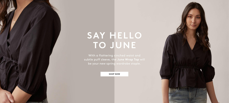 Shop June Wrap Top