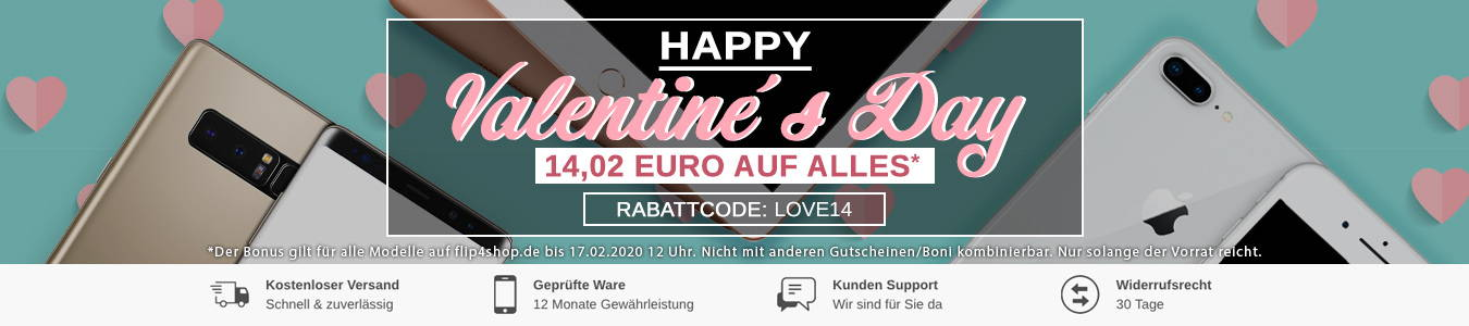 iPhone Angebote zum Valentinstag – iPhone günstig kaufen bei FLIP4SHOP