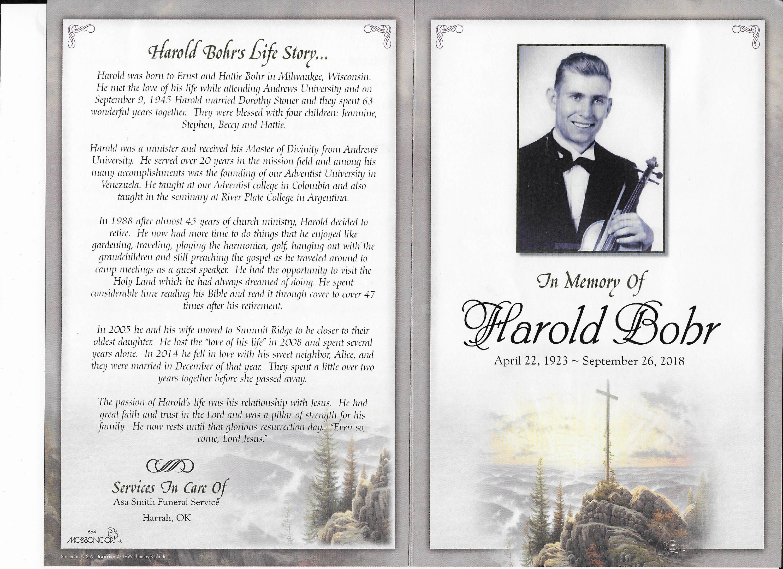 In Memory of Harold Bohr