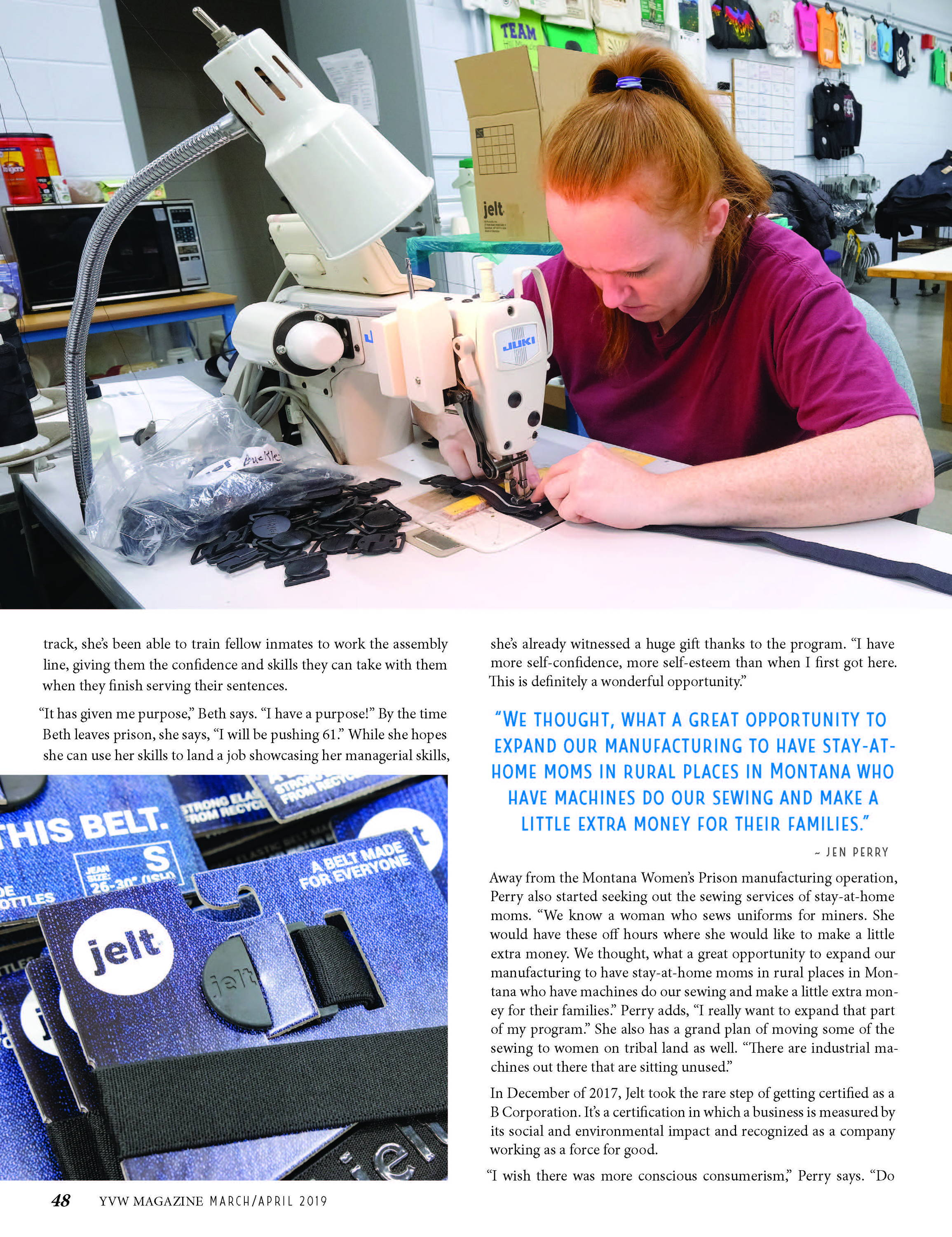 Jelt featured in Yellowstone Valley Woman Magazine
