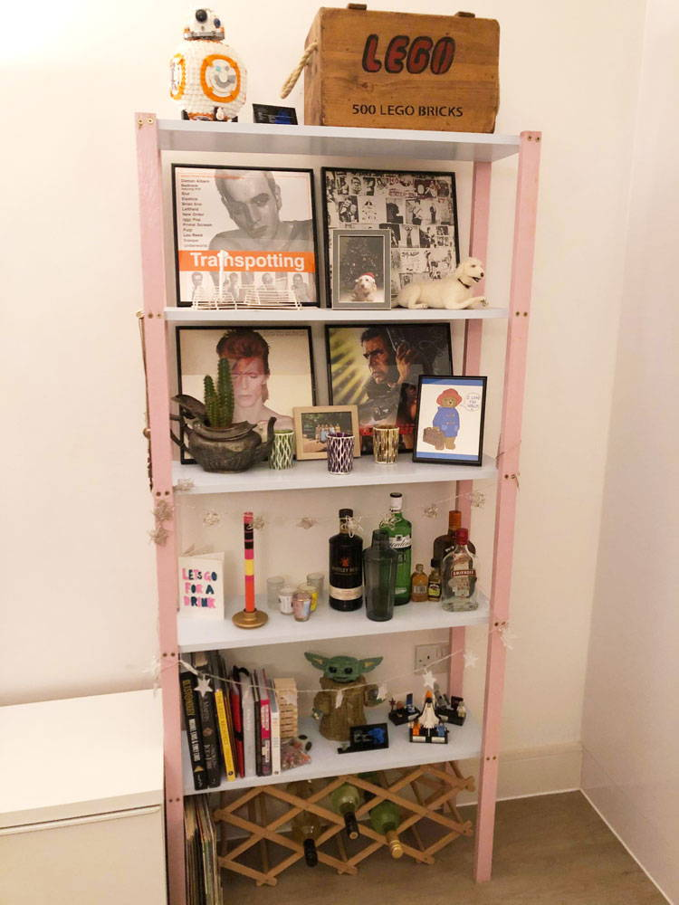 DIY Tutorial: Colourful Free-standing Shelves