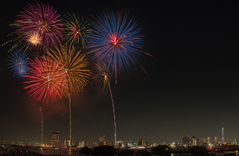 Fireworks over Sumidagawa