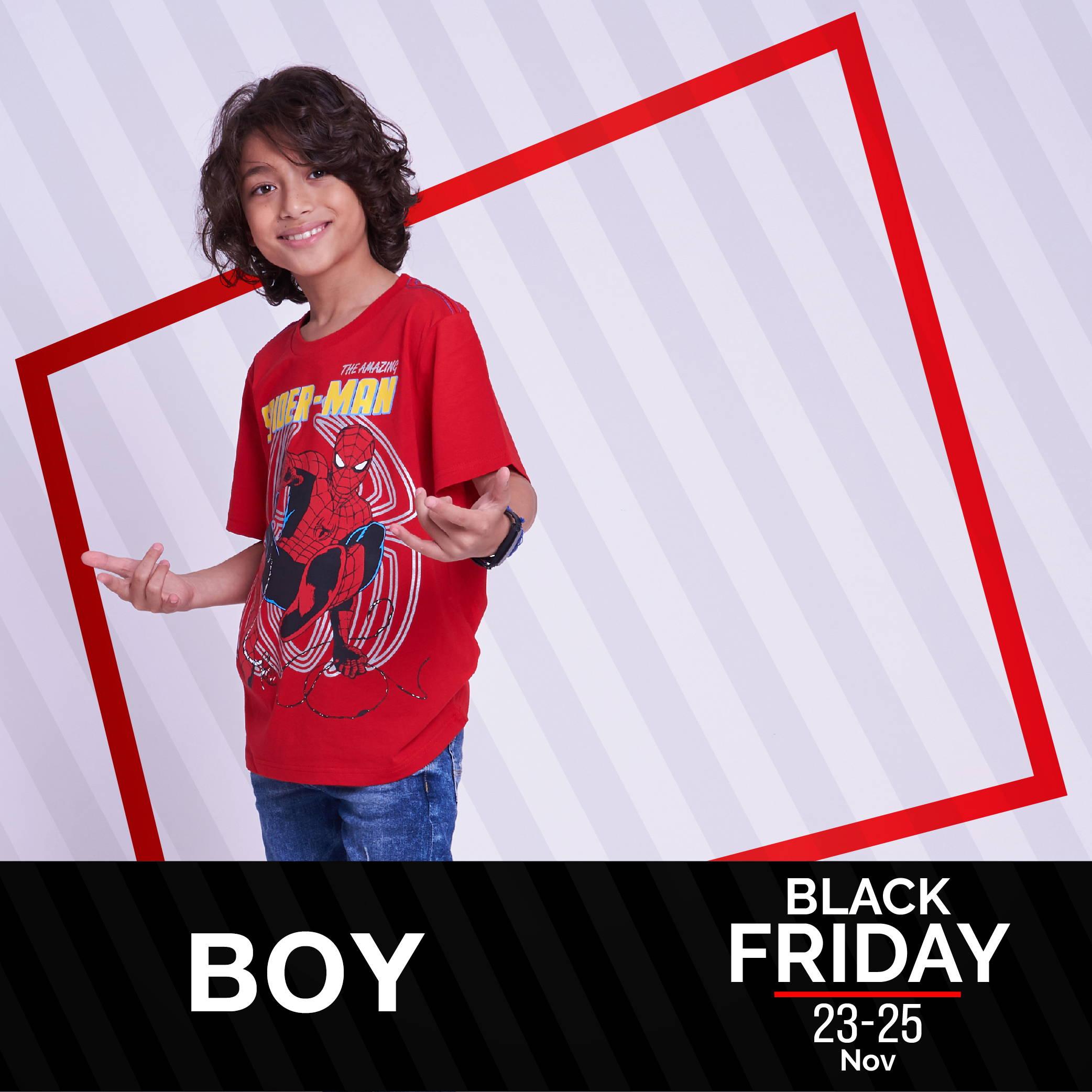 เสื้อผ้าเด็กชาย Black Friday ลด 40%