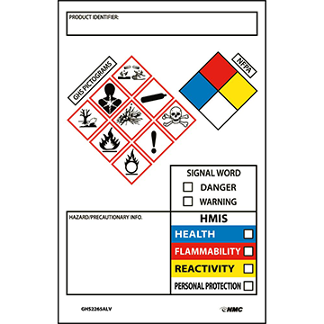 GHS Chemical Container Labels