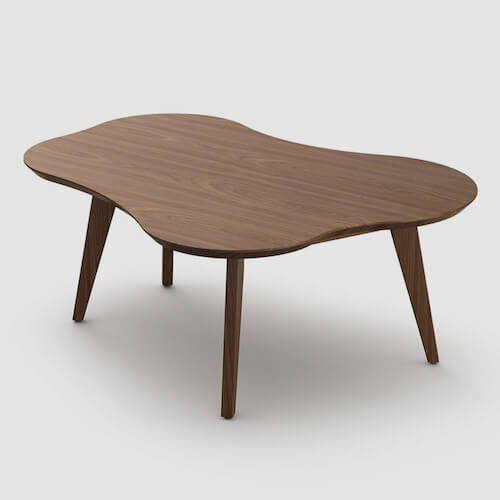 Knoll Risom Amoeba Shaped Coffee Table