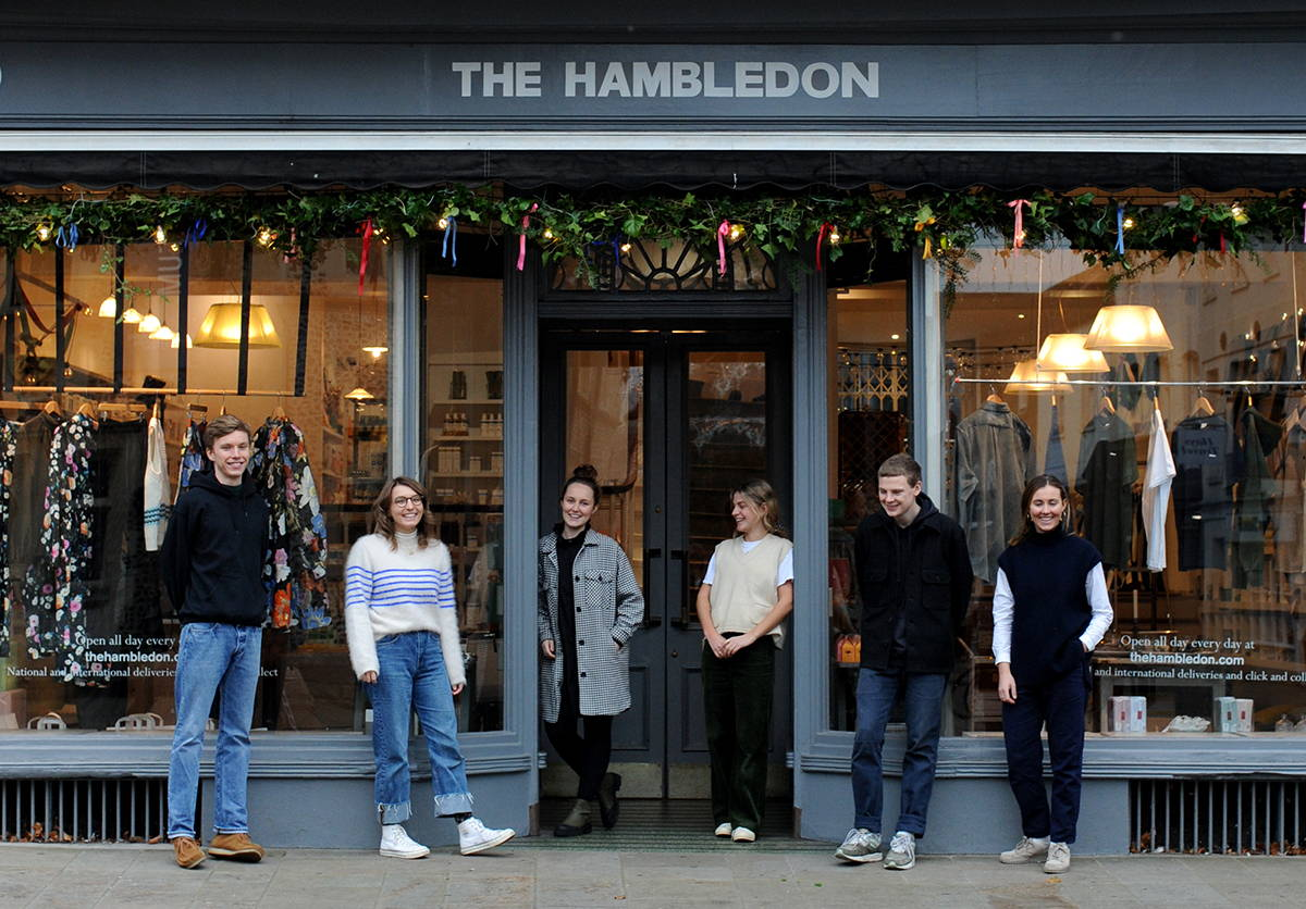 A shop front image with team hambledon