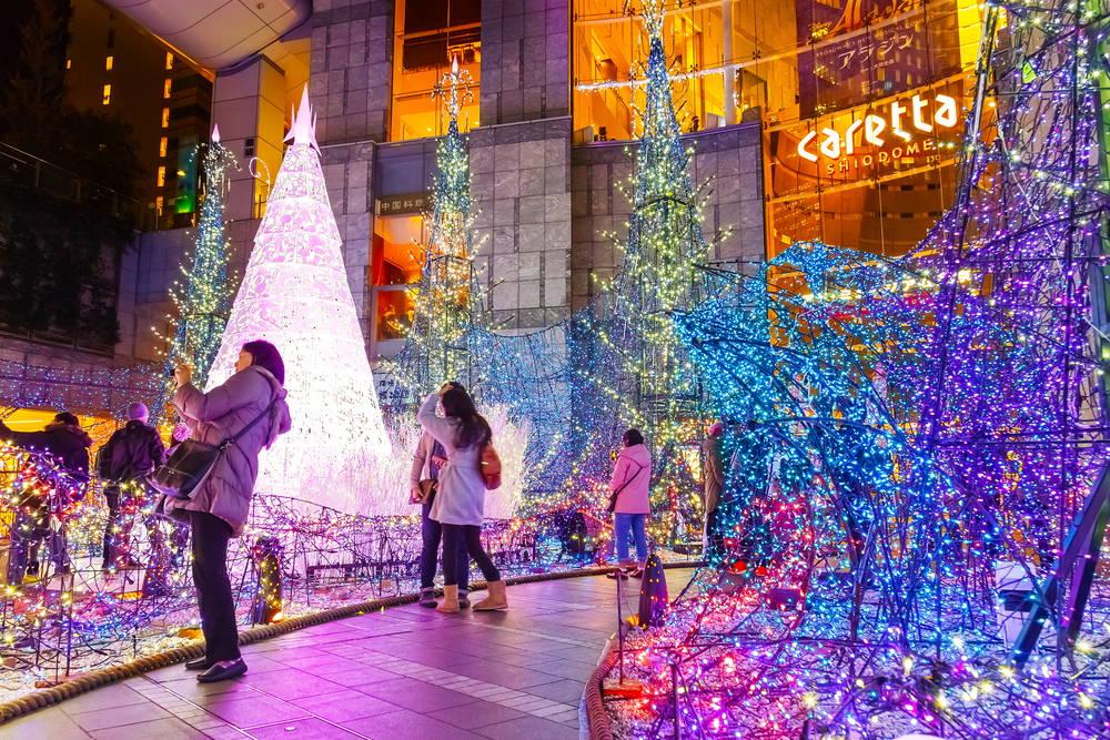 christmas illuminations in Japan
