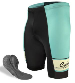 Men's retro active bike shorts