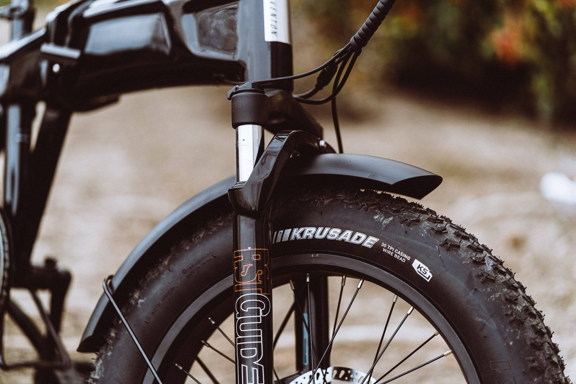 Use bike fenders for riding in rain