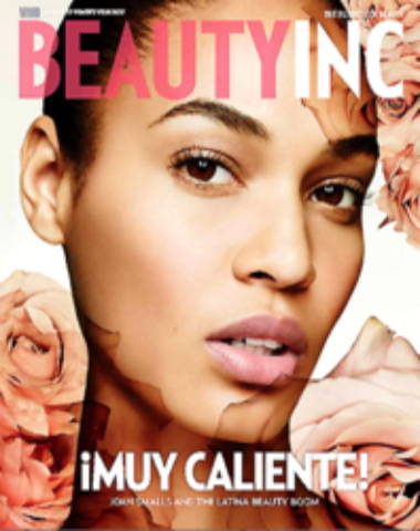 Beauty Inc magazine cover with woman's serious face