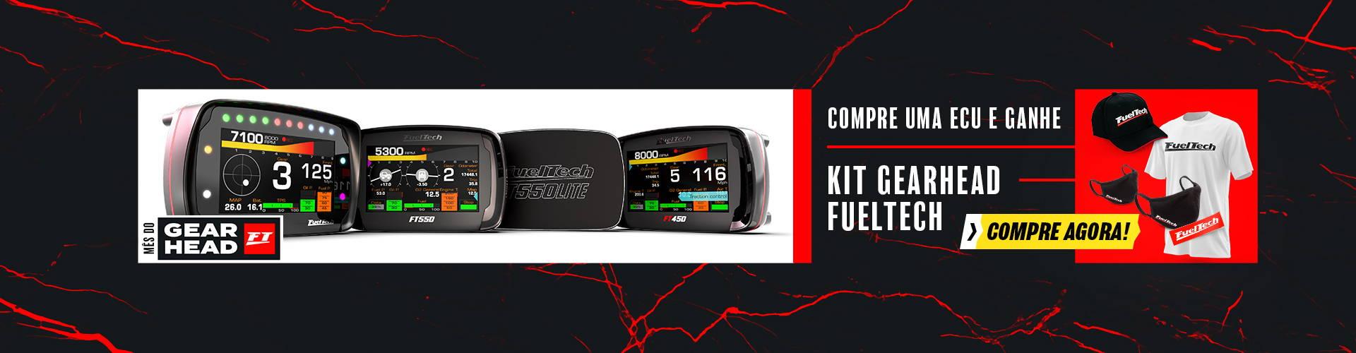 Compre uma ECU e ganhe um kit gearhead fuel tech no mês de setembro