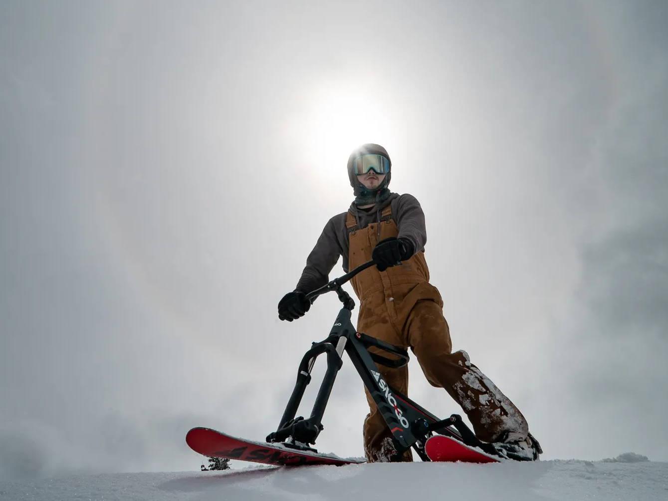 Josh Hoffer 360 SNO-GO Ski Bike