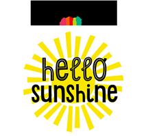 Schoolgirl Style Hello Sunshine Logo