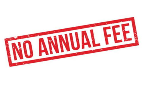 No annual fees logo