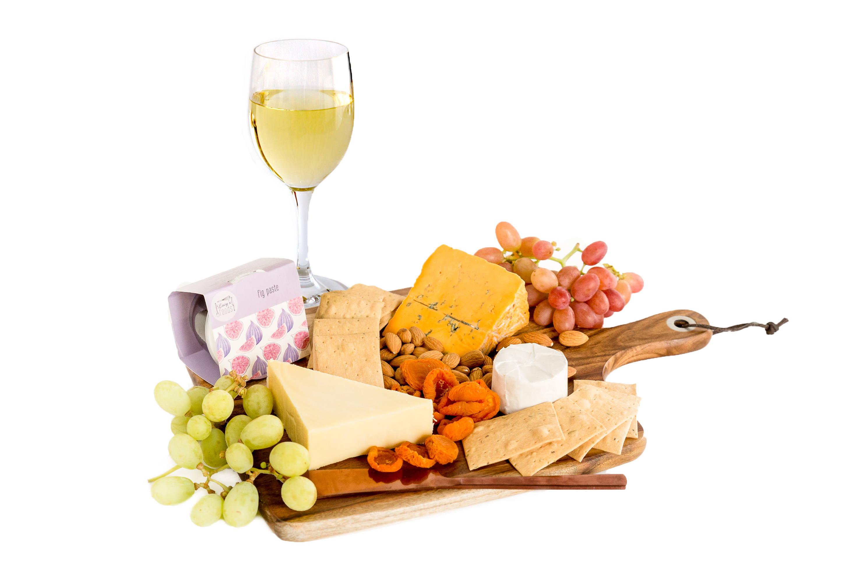 Small Australian wine and cheese platter