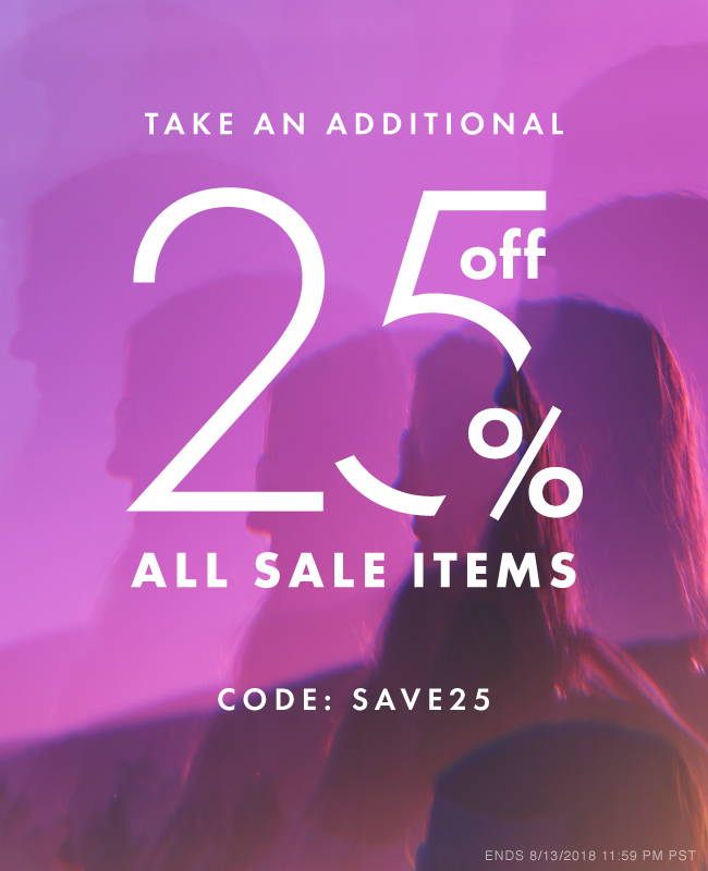 Take An Additional 25% Off All Sale Items | Code: SAVE25