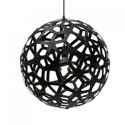 David Trubridge Coral Pendant in Black