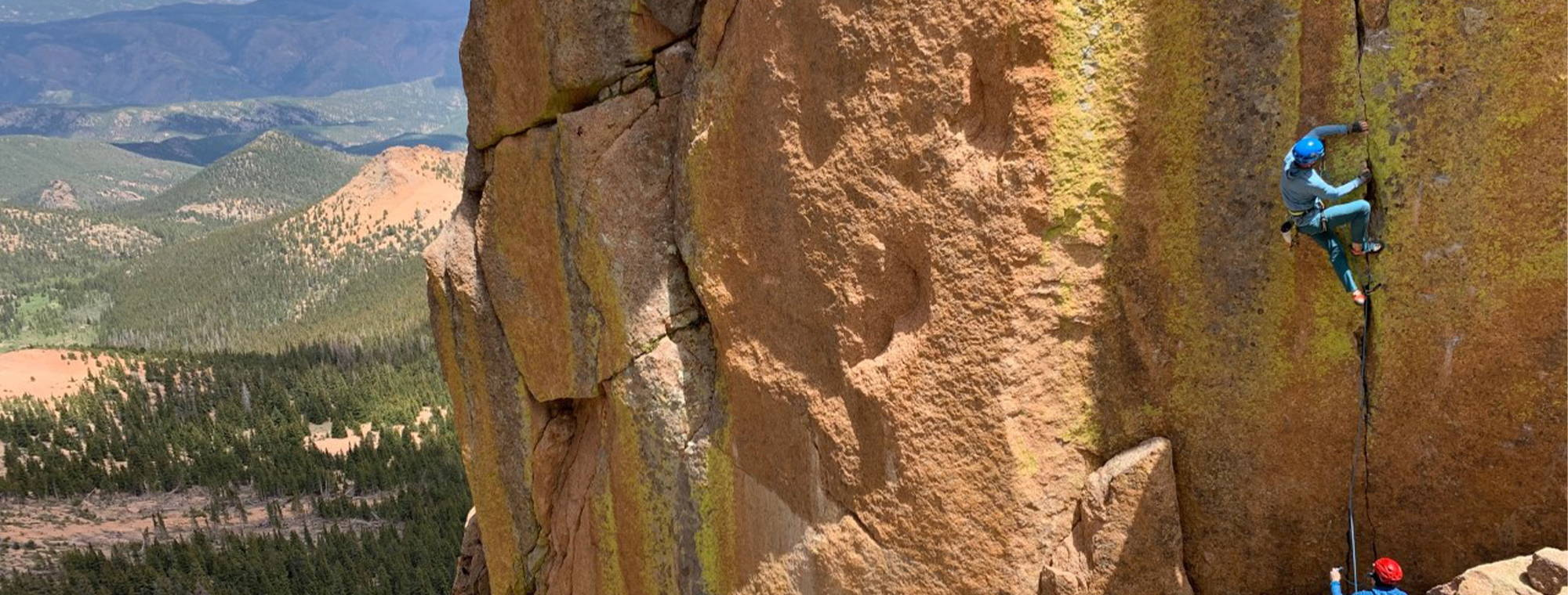 NW Alpine Ambassador Phil Wortmann Climbing Pikes Peak Colorado