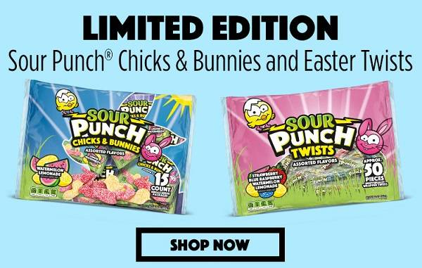 LIMITED EDITION Sour Punch Chicks & Bunnies and Easter Twists