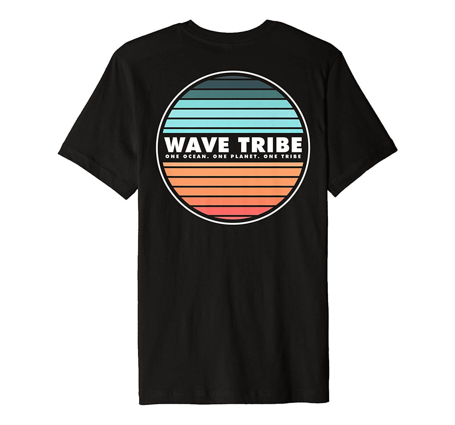Sunset Surfing Wave Tribe Shirt