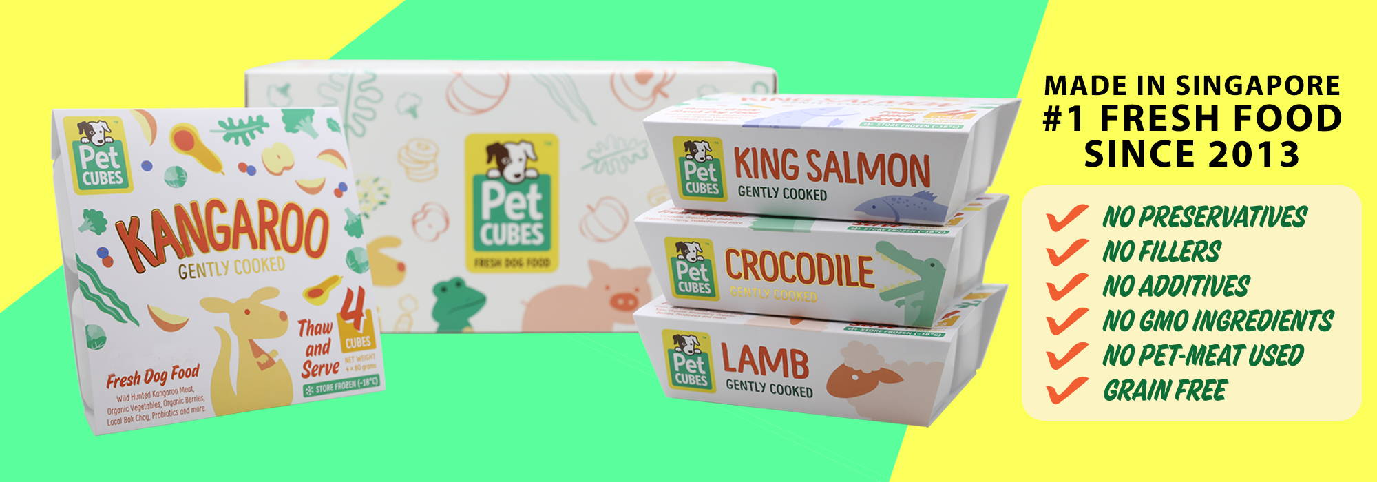 Pet Cubes Food and Treats banner