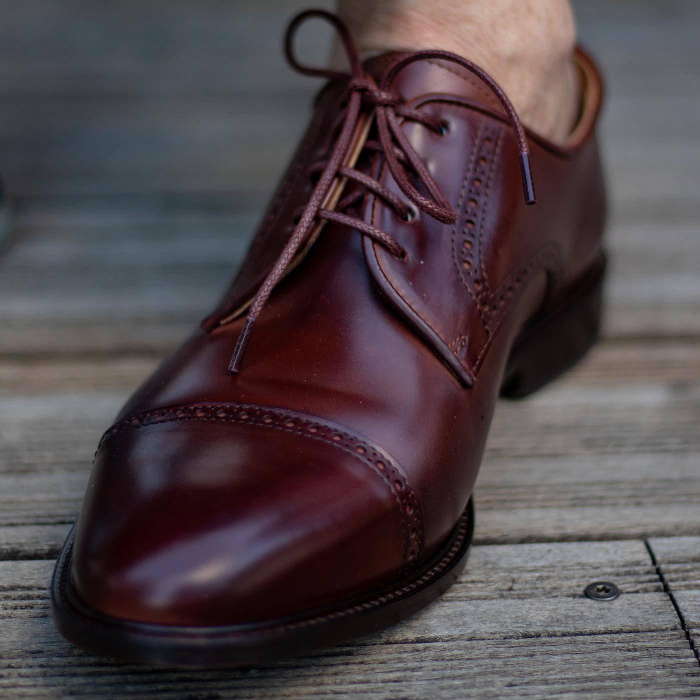 Derby en cuir haute-de-gamme homme pieds plats