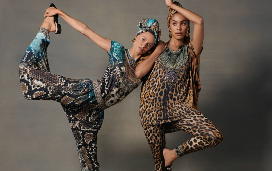 CAMILLA loungewear, CAMILLA leopard print loungewear, CAMILLA leggings, CAMILLA leopard kaftan