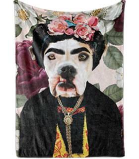 Renaissance dog art blanket