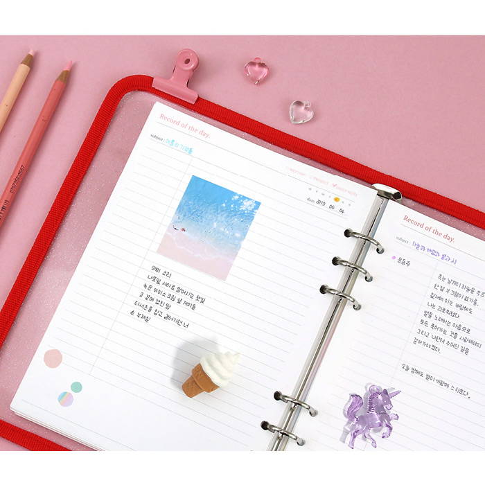 Lined note - Second Mansion Retro A5 6-ring dateless weekly diary planner