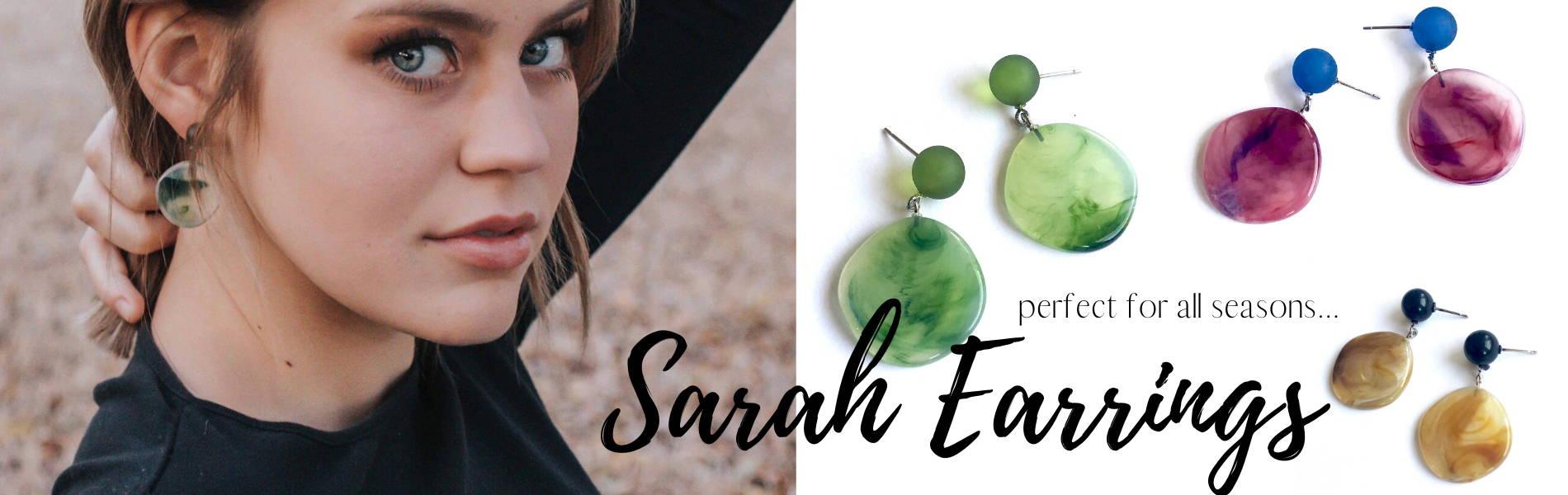 sarah statement earrings