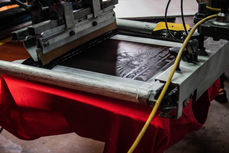 screen printing machine for screen printed shirts