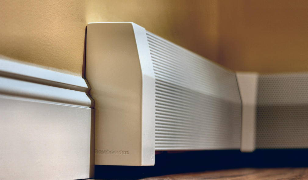 Baseboard Heater Cover 4ft Premium Panel with Left and Right Endcaps