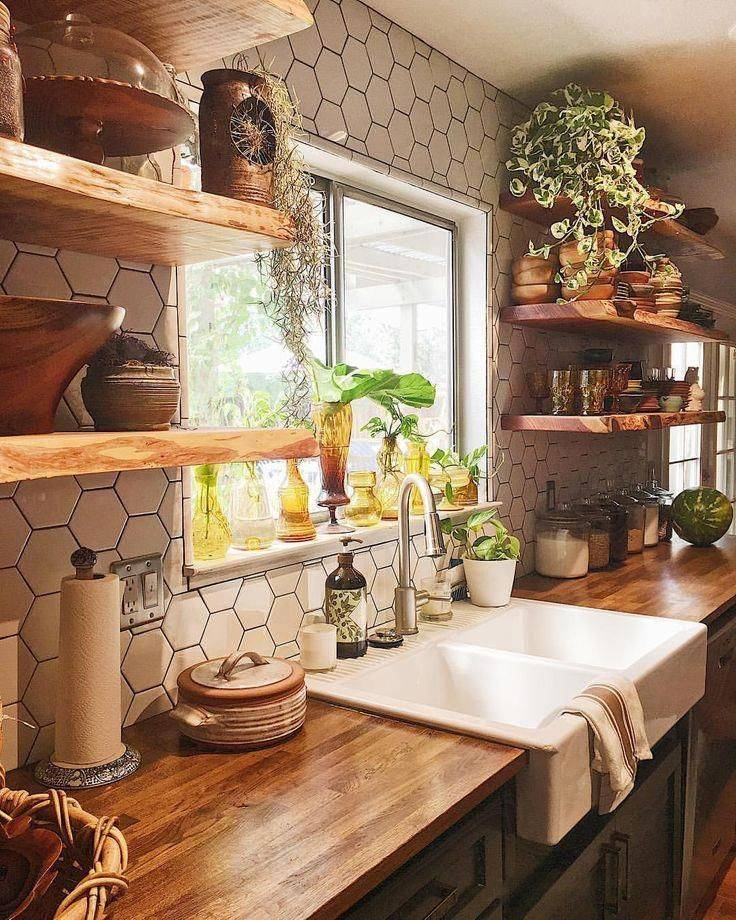 a homely kitchen