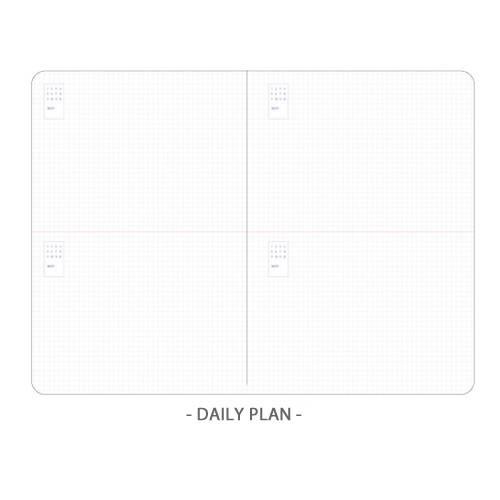 Daily plan  - Ardium 2020 Light dated daily planner scheduler