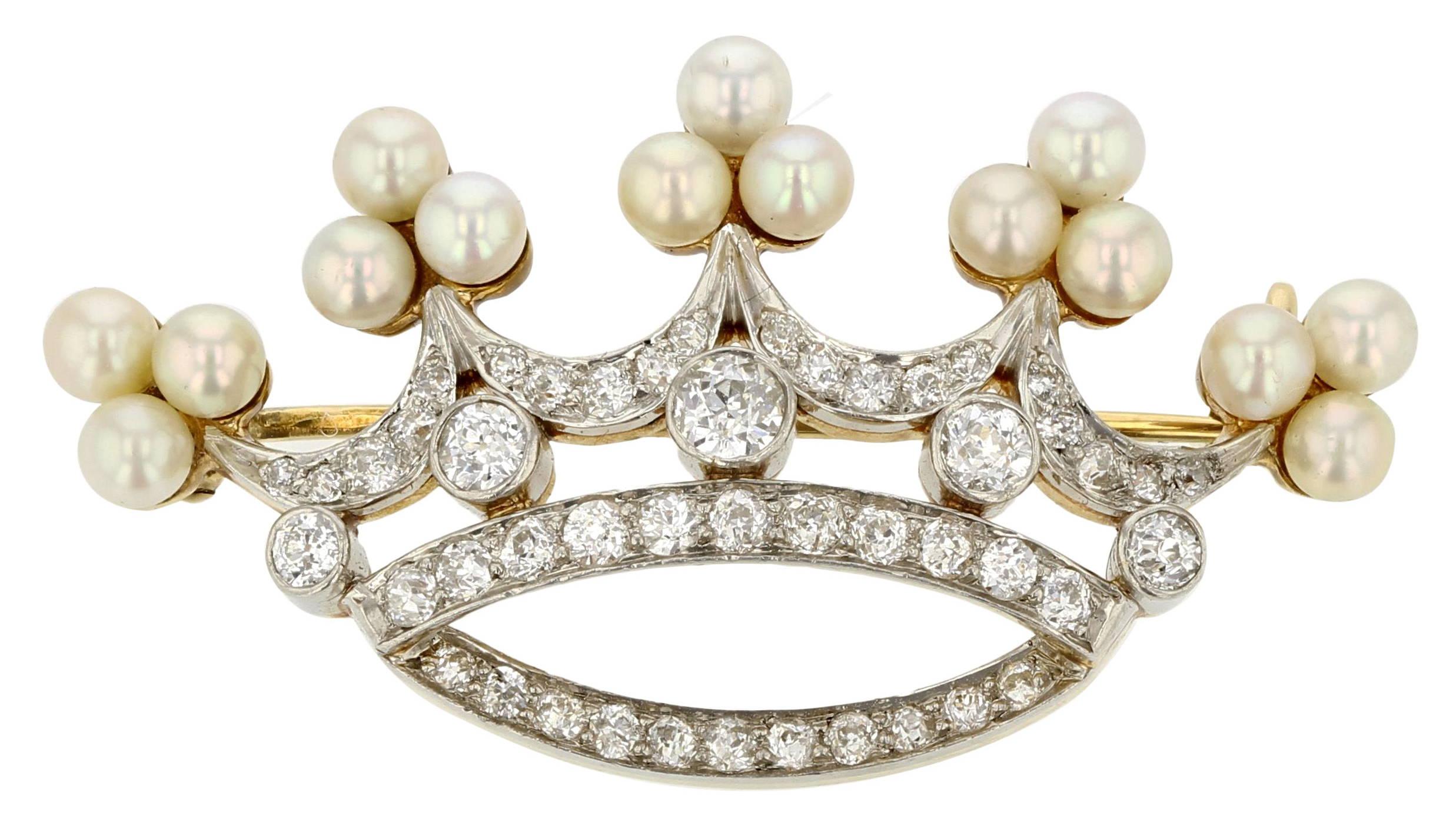 Edwardian Crown Pin