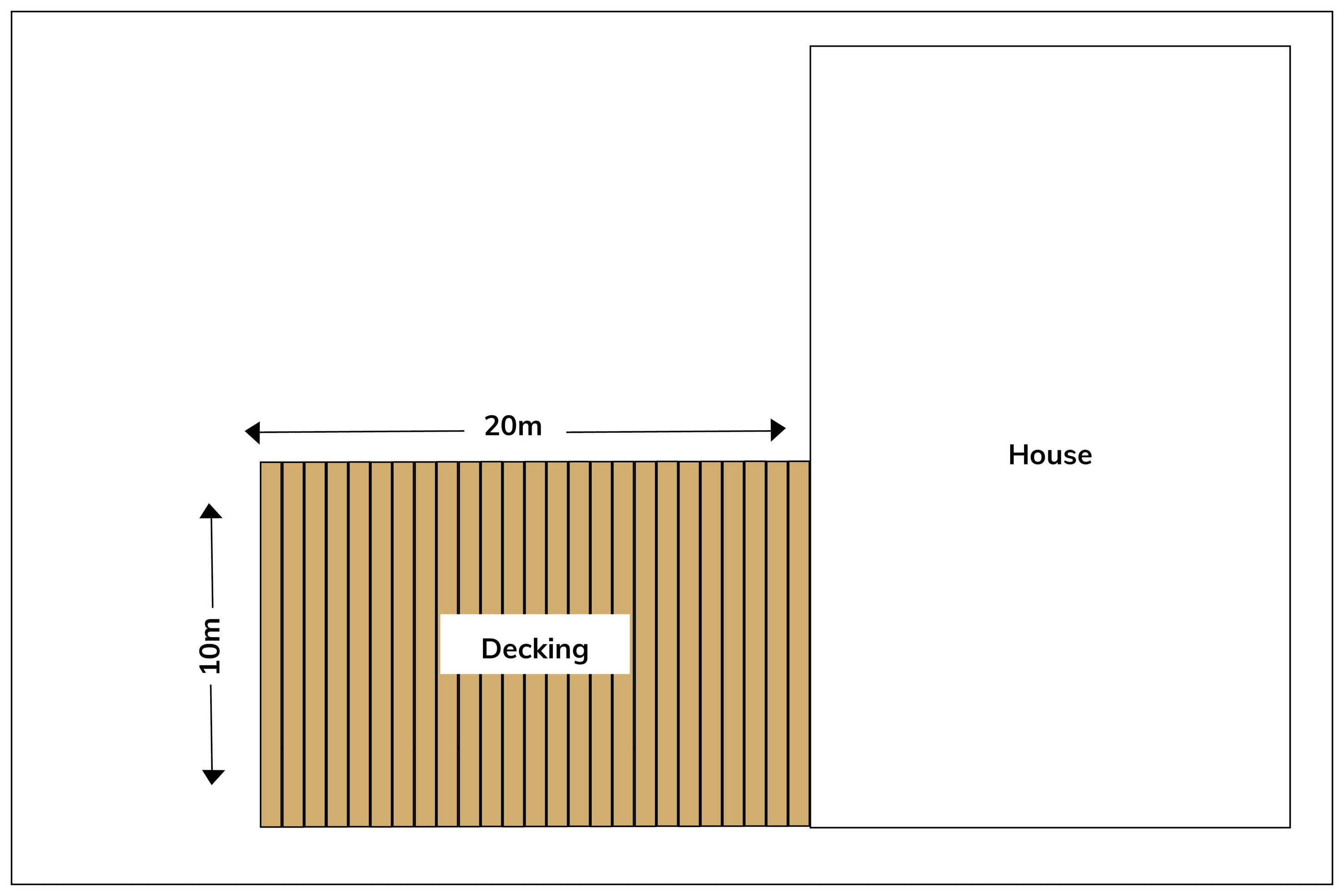 How to Calculate Your Decking Example Drawing