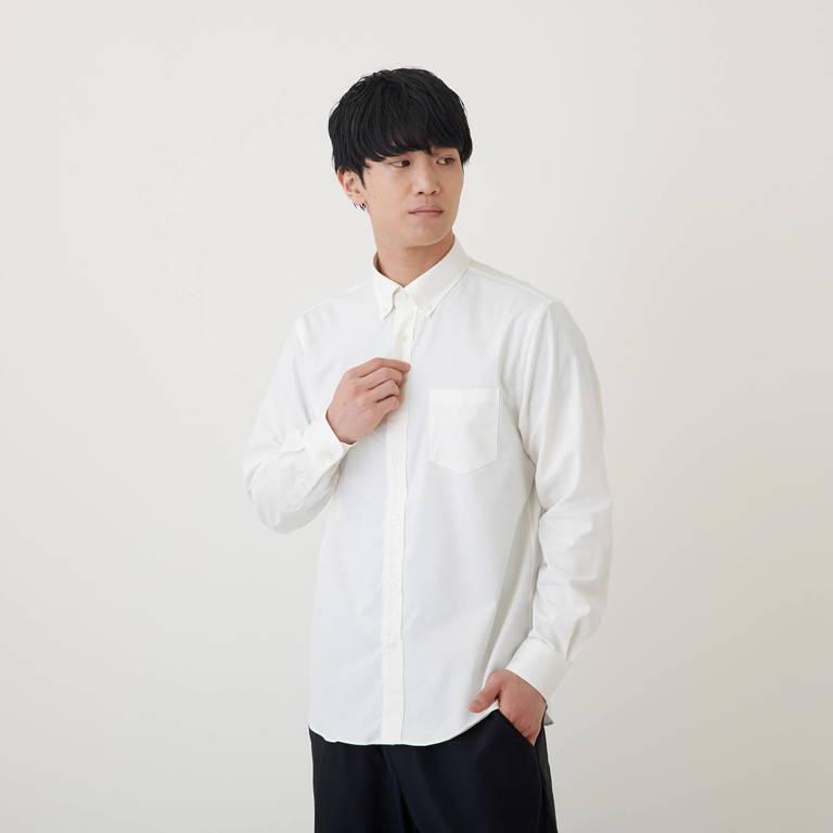 MXP(エムエックスピー)/ロングスリーブ オックスフォードボックスシャツ/ホワイト/MENS