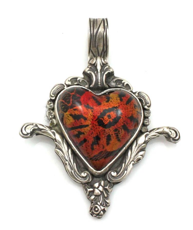 Sorrel Sky Gallery. Santa Fe Gallery. Art Gallery. Valentines Gift Ideas. Valentine Jewelry. Ben Nighthorse. Heart Pendant