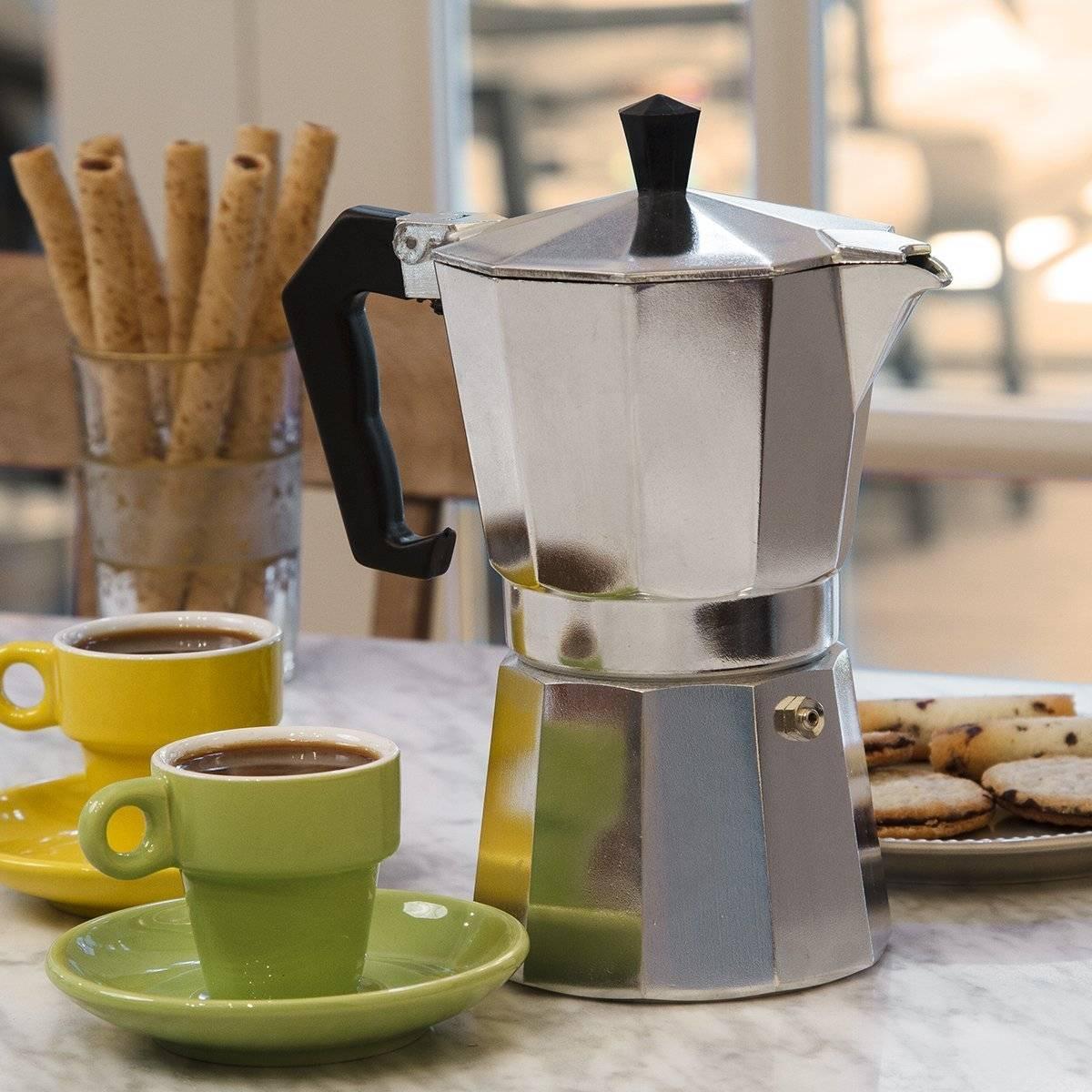 PRIMULA COFFE MAKER ESPRESSO 6CUP ALUM