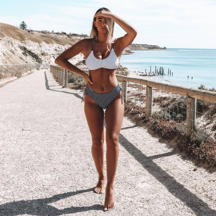 slimming bikini posess