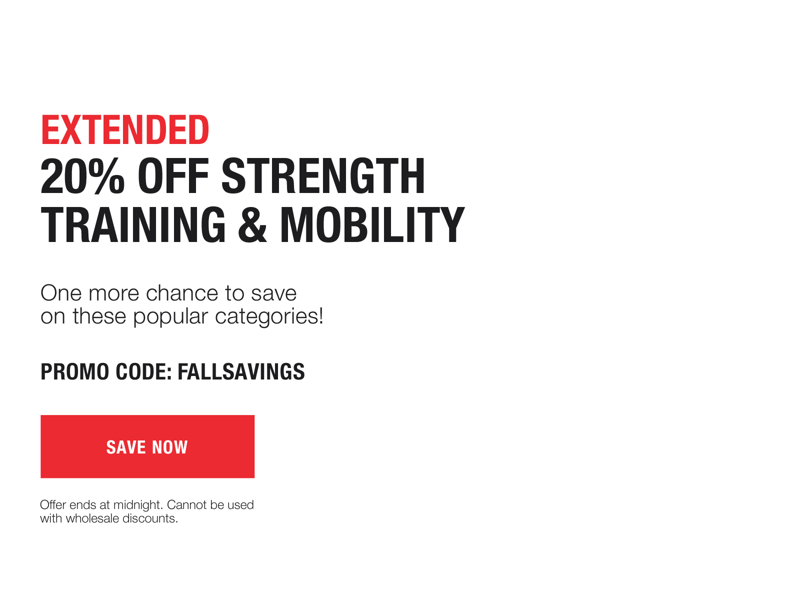 1 day extension: 20% off mobility and strength training with code FALLSAVINGS